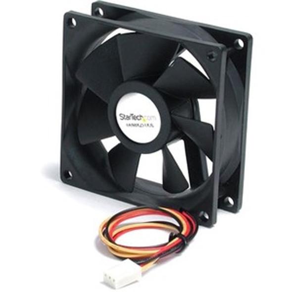 StarTech 80x25mm Ball Bearing Quiet Computer Case Fan w/ TX3 Connector - Fan Kit - FAN8X25TX3L