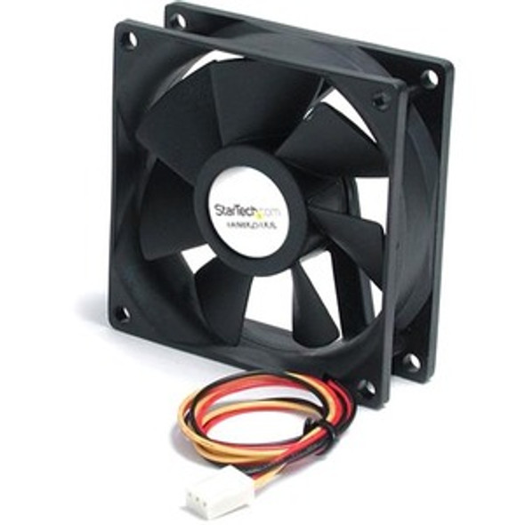 StarTech 80x25mm Ball Bearing Quiet Computer Case Fan w/ TX3 Connector - Fan Kit - FAN8X25TX3L