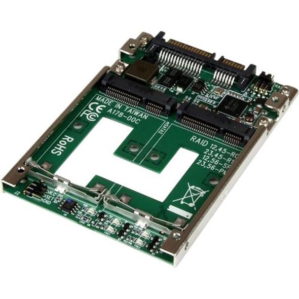 "StarTech Dual mSATA SSD to 2.5"" SATA RAID Adapter Converter - 25SAT22MSAT"