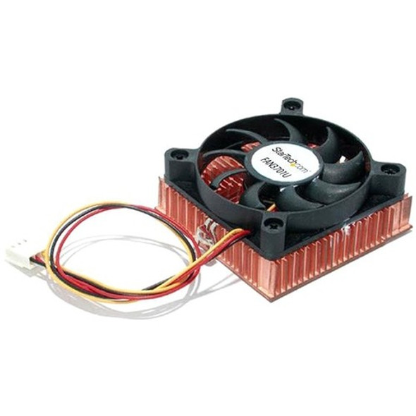 StarTech 1U 60x10mm Socket 7/370 CPU Cooler Fan w/ Copper Heatsink & TX3 - FAN3701U