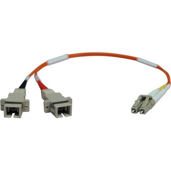 Tripp Lite 0.3M Duplex Multimode Fiber Optic 62.5/125 Adapter LC/SC M/F 1ft 1' 0.3 Meter - N458-001-62