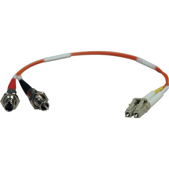 Tripp Lite 0.3M Duplex Multimode Fiber Optic 62.5/125 Adapter LC/ST M/F 1ft 1' 0.3 Meter - N457-001-62