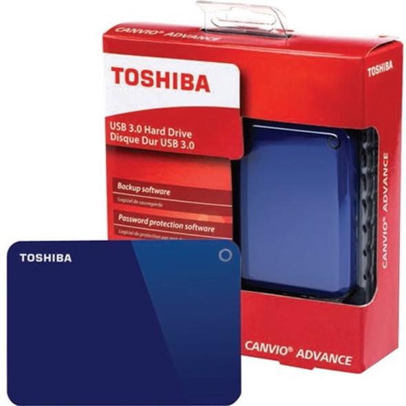 "Toshiba Canvio Advance 1 TB Portable Hard Drive - 2.5"" External - Blue - HDTC910XL3AA"
