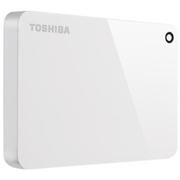 Toshiba Canvio Advance HDTC910XW3AA 1 TB Portable Hard Drive - External - White - HDTC910XW3AA