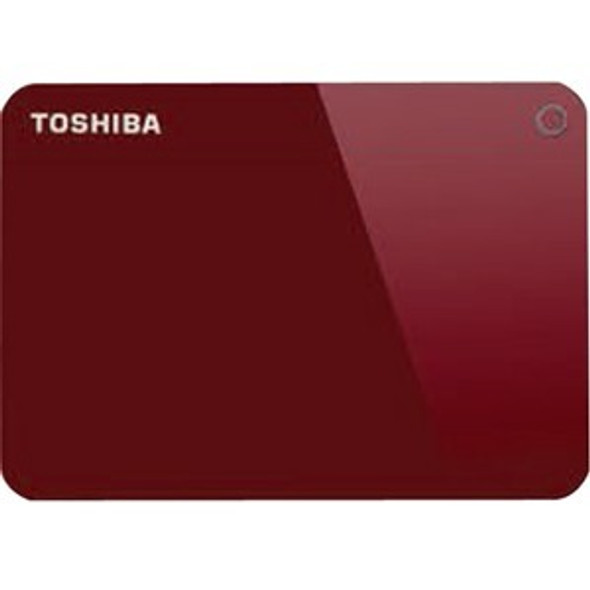 "Toshiba Canvio Advance 2 TB Portable Hard Drive - 2.5"" External - Red - HDTC920XR3AA"
