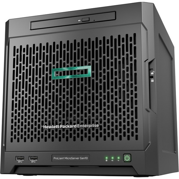 HPE ProLiant MicroServer Gen10 Ultra Micro Tower Server - 1 x Opteron - 8 GB RAM HDD SSD - Serial ATA/600 Controller - P07203-001