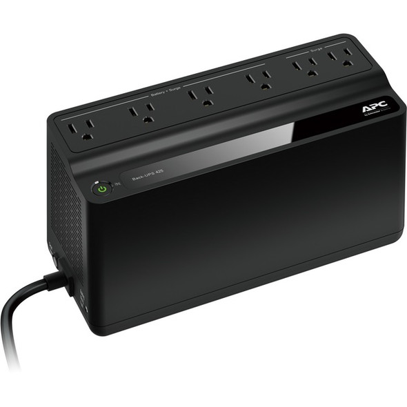 APC by Schneider Electric Back-UPS, 6 Outlets, 425VA, 120V - BE425M