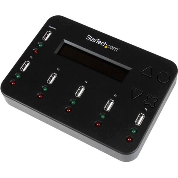 StarTech Standalone 1:5 USB Flash Drive Duplicator and Eraser - Flash Drive Copier - USBDUP15