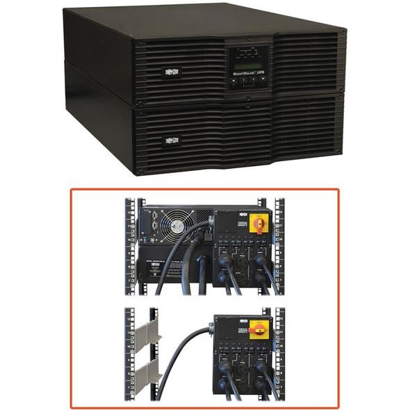 Tripp Lite UPS Smart Online 10000VA 9000W Rackmount 10kVA 200-240V USB DB9 Manual Bypass Switch Hot Swap 6URM - SU10000RT3U
