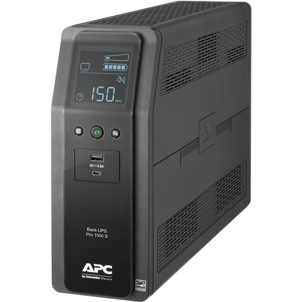 APC by Schneider Electric Back-UPS Pro BR1500MS 1.5KVA Tower UPS - BR1500MS