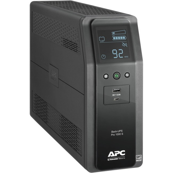 APC by Schneider Electric Back-UPS Pro BR1000MS 1.0KVA Tower UPS - BR1000MS