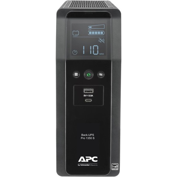 APC by Schneider Electric Back-UPS Pro BR BR1350MS 1350VA Tower UPS - BR1350MS
