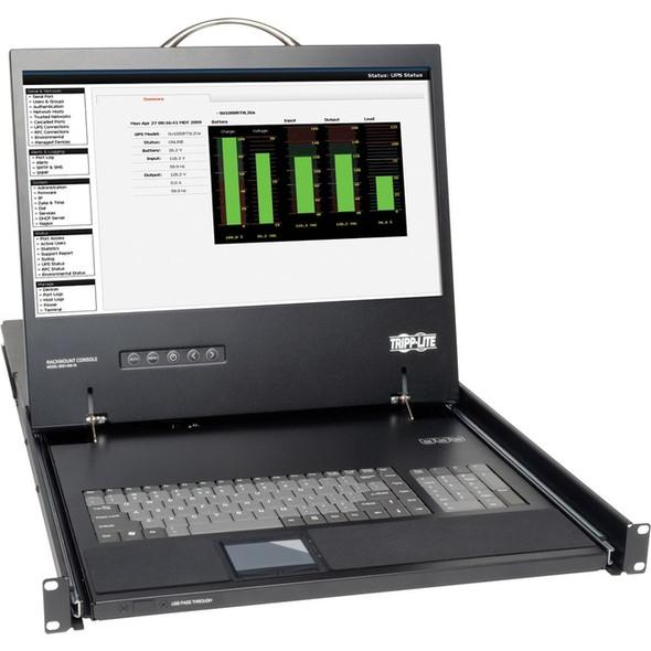 """Tripp Lite Rack Console KVM Cable Kit w/ 19"""" LCD PS/2 1U TAA GSA - B021-000-19"""