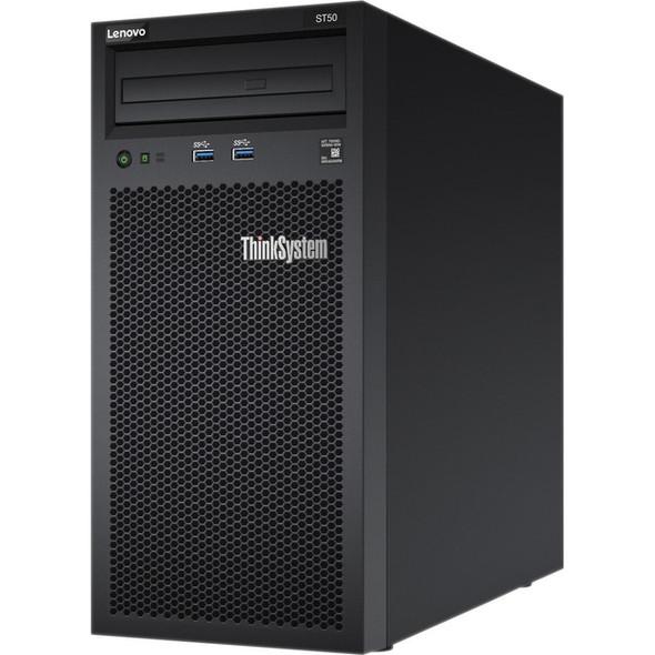 Lenovo ThinkSystem ST50 7Y49A01CNA 4U Tower Server - 1 x Xeon E-2144G - 8 GB RAM HDD SSD - Serial ATA/600 Controller - 7Y49A01CNA