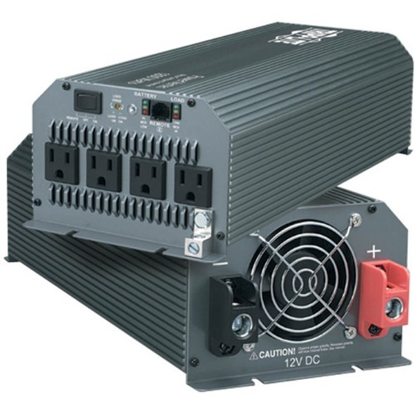 Tripp Lite Compact Inverter 1000W 12V DC to 120V AC 4 Outlets 5-15R - PV1000HF