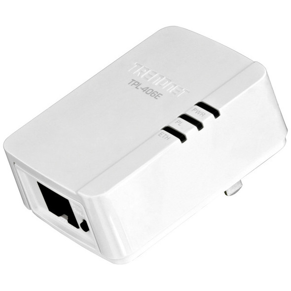 TRENDnet 500 Mbps Compact Powerline AV Adapter - TPL-406E