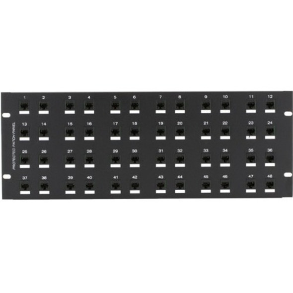 Black Box CAT6 Protected Panel, 48-Port, 4U - JSM116A