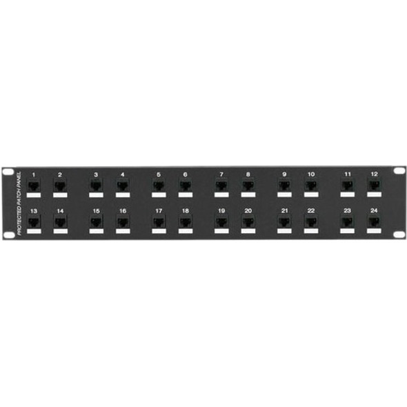 Black Box CAT6 Protected Panel, 24-Port, 2U - JSM114A