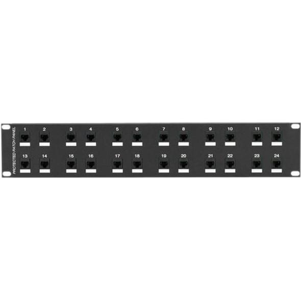 Black Box CAT6 Protected Panel, 24-Port, 2U - JSM114A