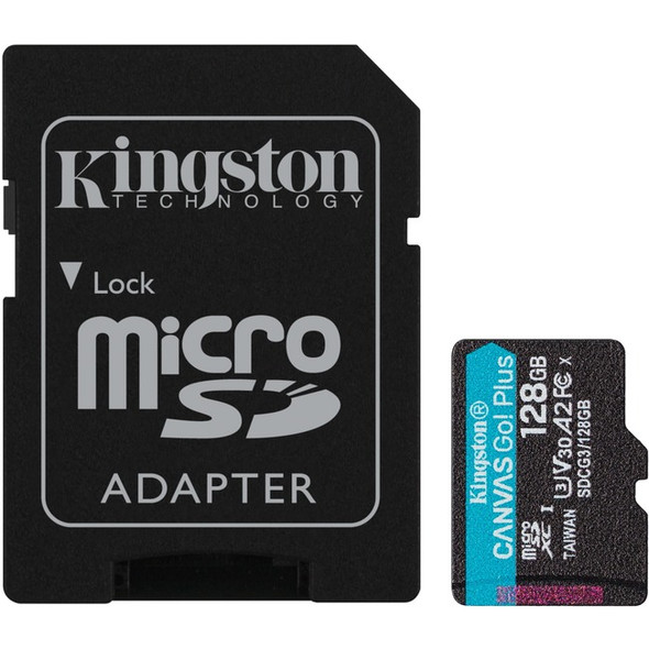 Kingston 128gb Microsdxc Canvas Go Plus 170r A2 - SDCG3/128GB