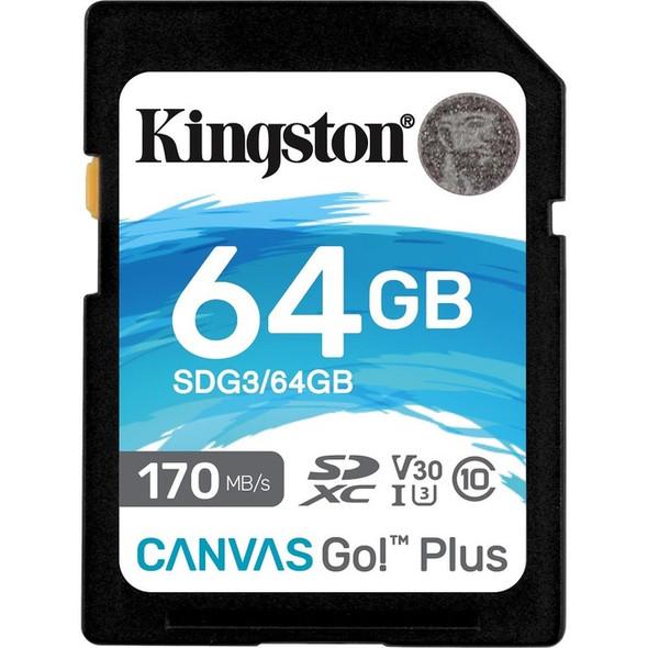 Kingston 64gb Sdxc Canvas Go Plus 170r C10 Uhs-i - SDG3/64GB