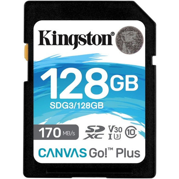 Kingston 128gb Sdxc Canvas Go Plus 170r C10 Uhs-i - SDG3/128GB