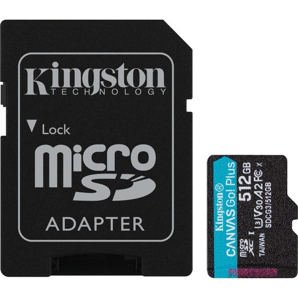 Kingston 512gb Microsdxc Canvas Go Plus 170r A2 - SDCG3/512GB