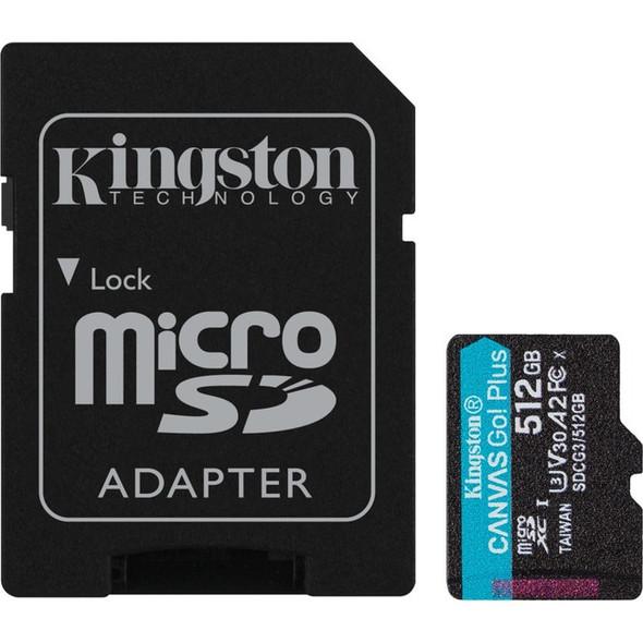 Kingston 512gb Microsdxc Canvas Go Plus 170r A2 - SDCG3/512GB