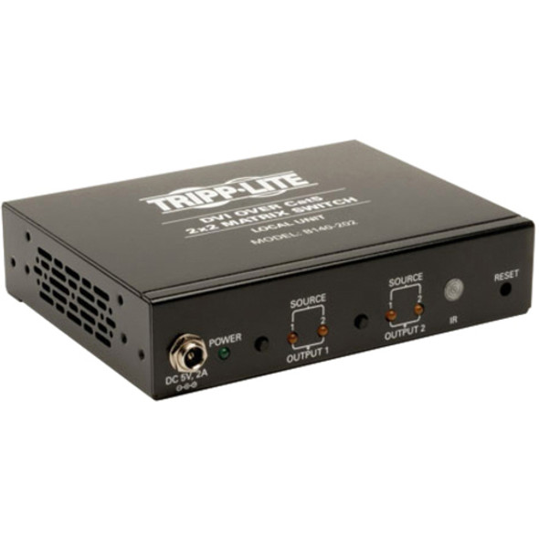 Tripp Lite 2-Port 2x2 DVI Over Cat5/Cat6 Matrix Splitter Switch Video Transmitter 200' - B140-202