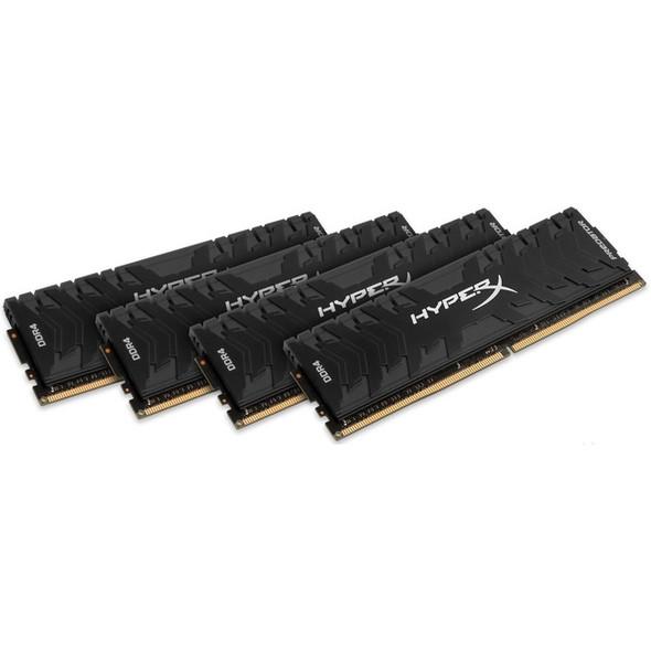 Kingston Predator Memory Black - 32GB Kit (4x8GB) - DDR4 3200MHz Intel XMP CL16 DIMM - HX432C16PB3K4/32