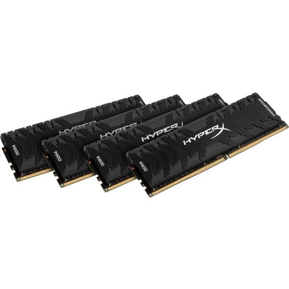 Kingston Predator Memory Black - 32GB Kit (4x8GB) - DDR4 3000MHz Intel XMP CL15 DIMM - HX430C15PB3K4/32