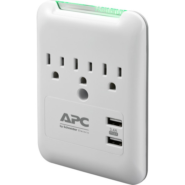 APC by Schneider Electric SurgeArrest Essential 3-Outlet Surge Suppressor/Protector - PE3WU3