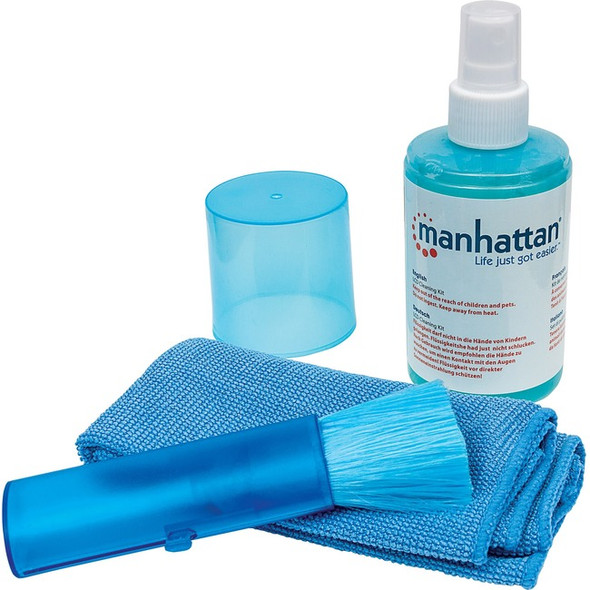 Manhattan LCD Cleaning Kit (6.75 ounces) with Microfiber Cloth and Retractable Brush - 421027