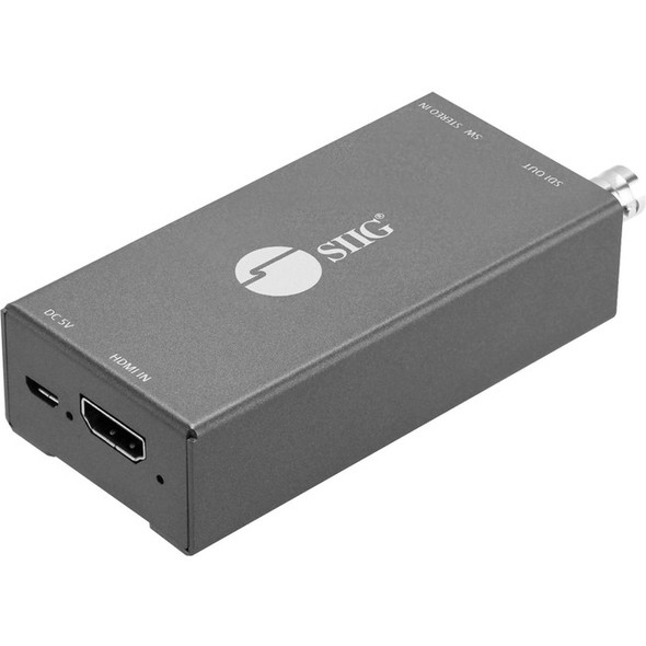 SIIG HDMI to 3G/HD/SD-SDI with Audio Embedder Mini Converter - CE-SD0911-S1