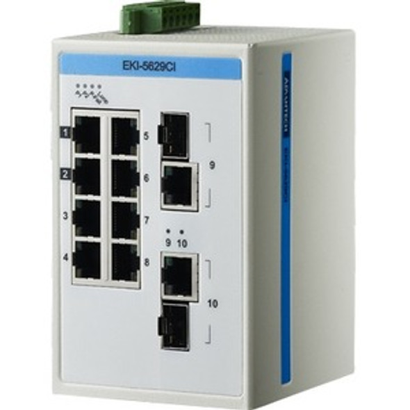 Advantech 8FE + 2GE Combo Ethernet ProView Switch with Wide Temperature - EKI-5629CI-AE