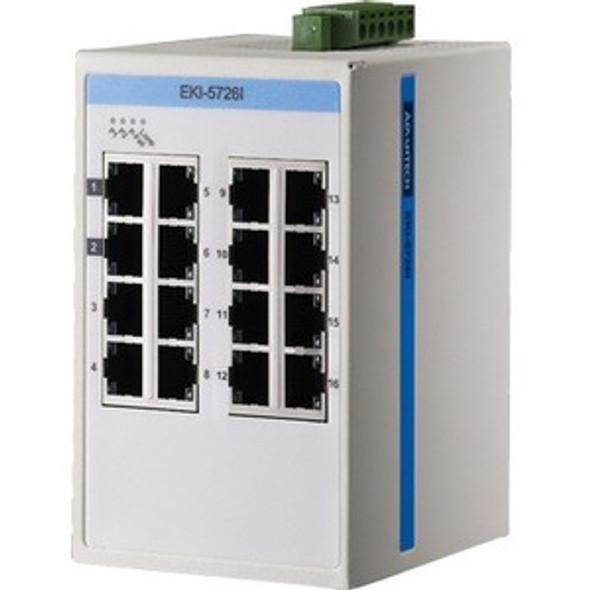 Advantech 16GE Unmanaged Ethernet Switch, ATEX/C1D2/IECEx, -40~75? - EKI-5726I-AE