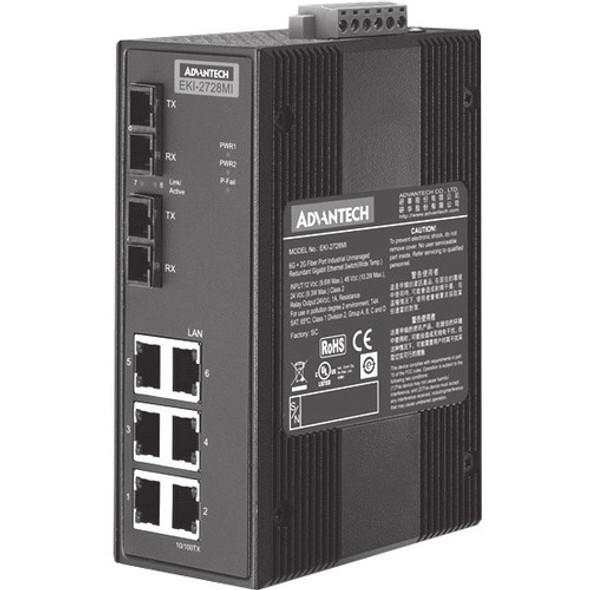 Advantech EKI-2728MI Ethernet Switch - EKI-2728MI-BE