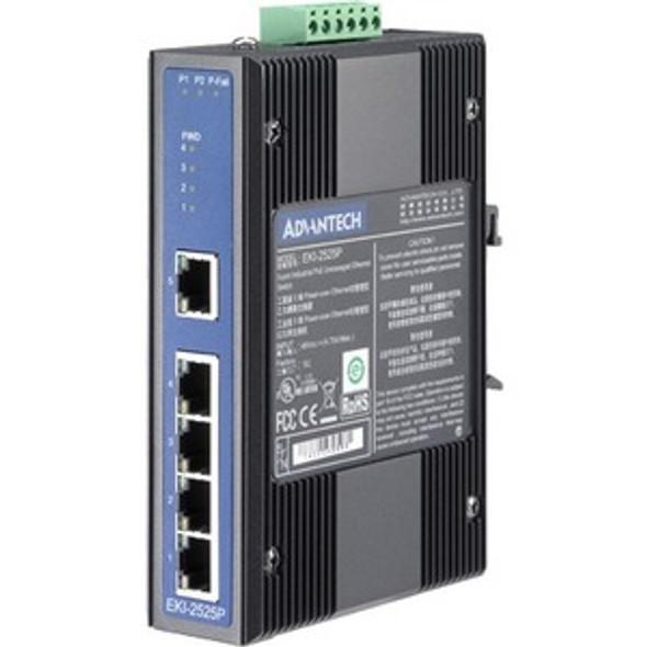 Advantech 5-port Industrial PoE Switch - EKI-2525P-BE