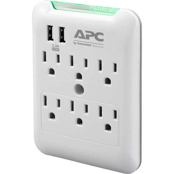 APC by Schneider Electric SurgeArrest Essential 6-Outlet Surge Suppressor/Protector - PE6WU2
