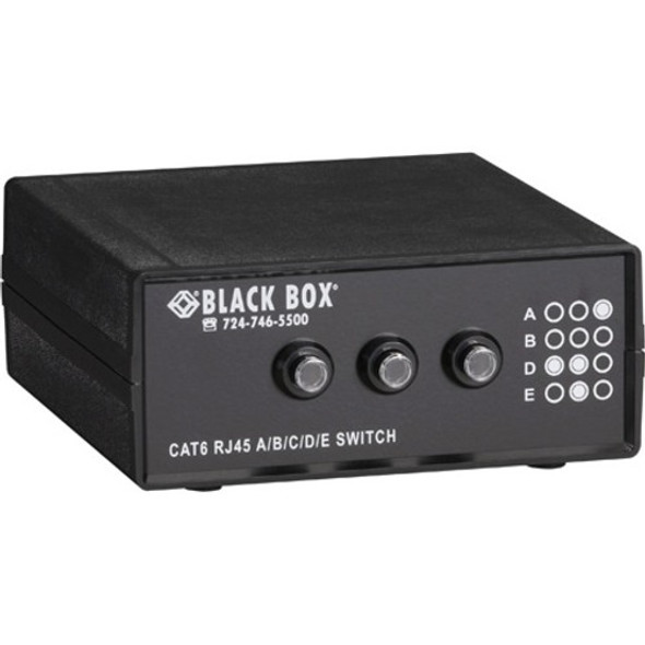 Black Box 4-to-1 CAT6 10-GbE Manual Switch (ABCD) - SW1032A