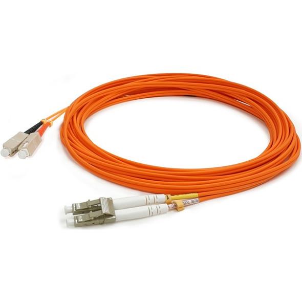 AddOn 0.5m LC (Male) to SC (Male) Orange OM1 Duplex Fiber OFNR (Riser-Rated) Patch Cable - ADD-SC-LC-0.5M6MMF