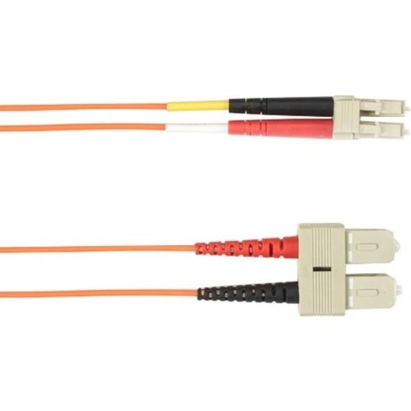 Black Box 10-m, SC-LC, 50-Micron, Multimode, Plenum, Orange Fiber Optic Cable - FOCMP50-010M-SCLC-OR
