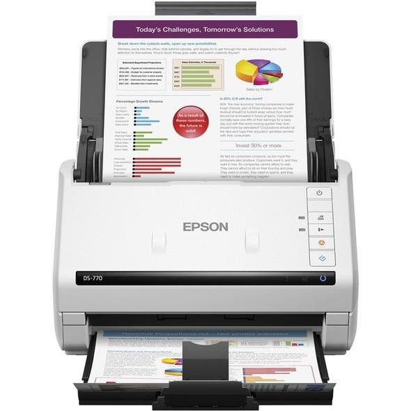 Epson WorkForce DS-770 Sheetfed Scanner - 600 dpi Optical - B11B248301