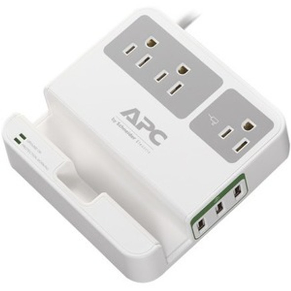 APC by Schneider Electric Essential SurgeArrest, 3 Outlets, 3 USB Charging Ports, 120V - P3U3