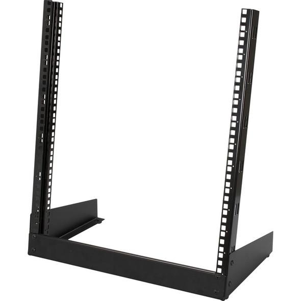"Black Box 12U 2-Post Rack, 19.8"" x 11.6""D, 10-32 , TAPPED RAILS Holes, 360lbs - RMT372A"