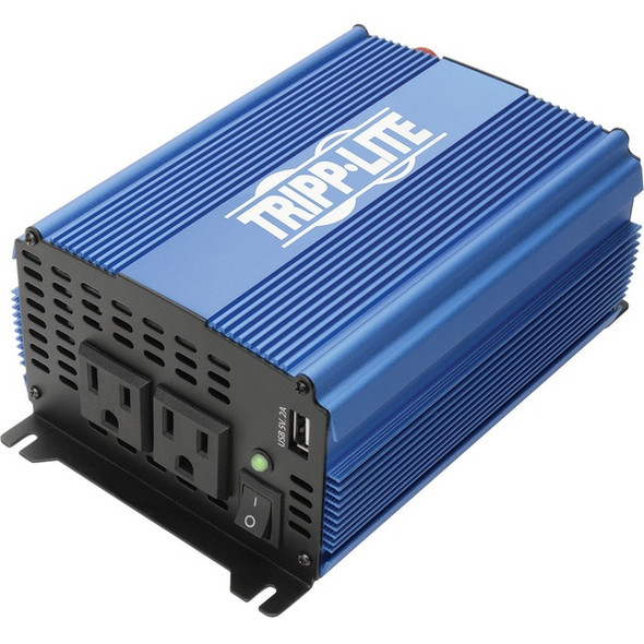Tripp Lite 1000W Compact Power Inverter Mobile Portable 2 Outlet 1 USB Port - PINV1000