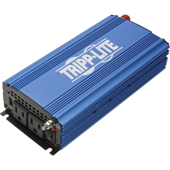 Tripp Lite 750W Compact Power Inverter Mobile Portable 2 Outlets 1 USB Port - PINV750
