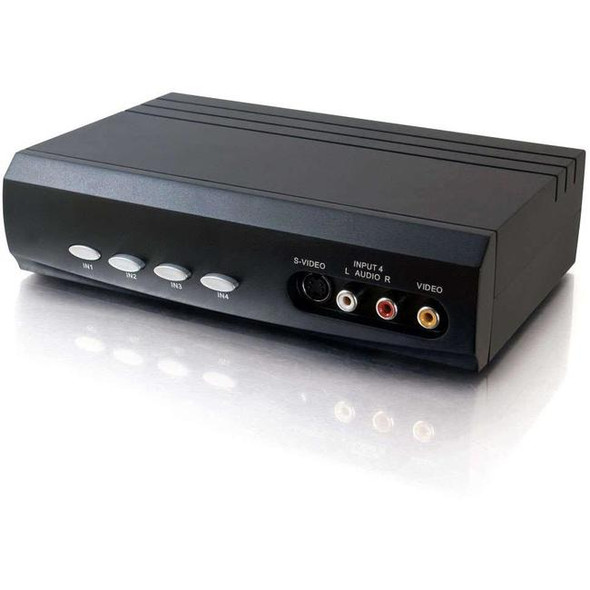 C2G 4x2 S-Video + Composite Video + Stereo Audio Selector Switch - 28750