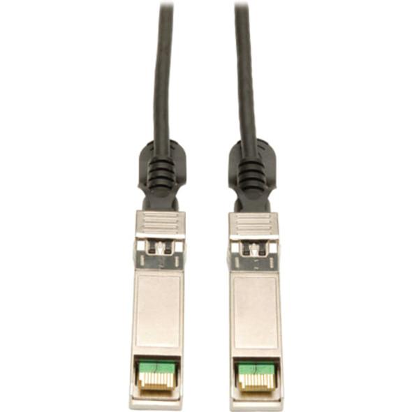 Tripp Lite 0.5M SFP+ 10Gbase-CU Twinax Passive Copper Cable Black SFP-H10GB-CU50CM Compatible 20 inch - N280-20N-BK