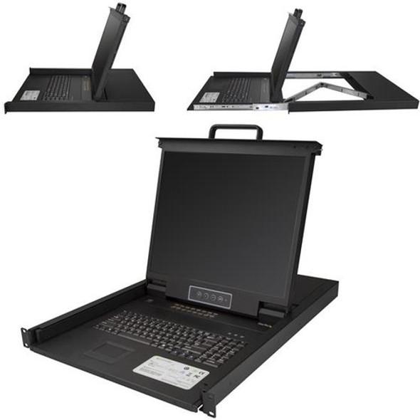 StarTech 16 Port KVM Console for Server Rack - Rackmount LCD - 19in - 1U - RKCONS1916K